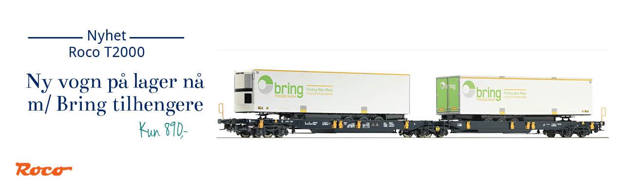 Roco 67413 Wascosa T2000 brønn- og containervogn med Bring Thermo lastebil-tilhengere