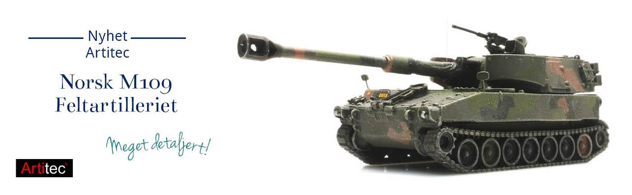 M109 A2A3 camo, Det Norske Feltartilleriet - Hæren nå på lager - Artitec 6870131 !