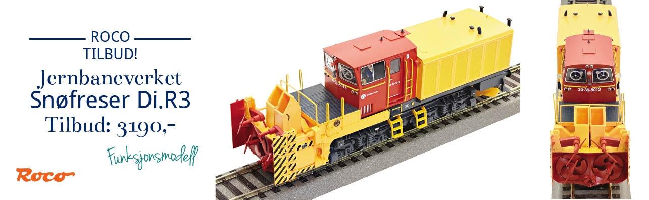 Knalltilbud på Roco 72809 Jernbaneverket - JBV Di.R3 snøfreser, funksjonsmodell, DC, H0, 1:87