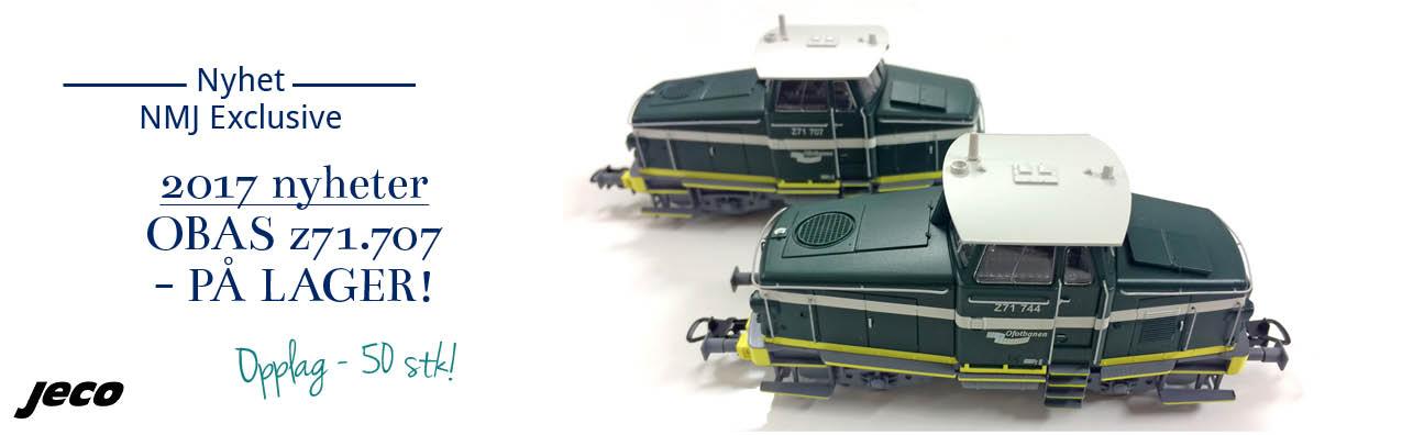 NMJ Exclusive Jeco Z71 OBAS - Ofotbanen nummer 707 - opplag kun 50 modeller!