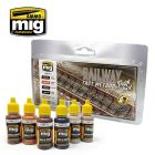 Mig Akrylmaling, ammo-by-mig-jimenez-7471-railway-fast-method-paint-set-acrylic-paint-for-tracks, MIG7471