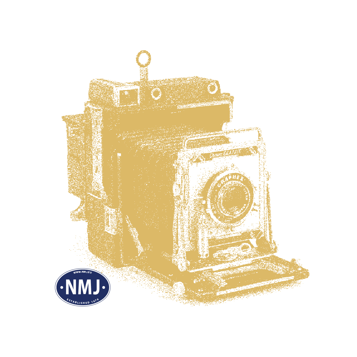 NMJT83.311 - NMJ Topline CargoNet Skd 224.213, Rød/gul, DCC Digital