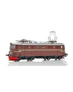 Topline Lokomotiver, NMJ Topline model of the NSB El 11.2107 in the redbrown design from 1963 and as museum locomotive, DC., NMJT86.201
