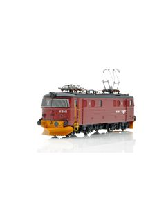 Topline Lokomotiver, NMJ Topline model of the NSB El 11b.2146 in the red/black livery with yellow snow plows, NMJT87.401