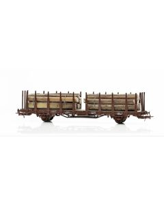Topline Godsvogner, NMJ Topline model of the SJ Kbps 21 74 370 3 741-0 stake car with timber load. , NMJT602.303