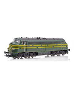 Topline Lokomotiver, NMJ Topline model of the SNCB 5404  in late version with 5 frontlamps , NMJT90403