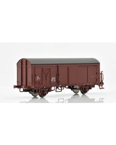 Topline Godsvogner, NMJ Topline model of the NSB His 210 2 198-9 boxcar type 1 with wooden roof and brakeman`s platform., NMJT504.103