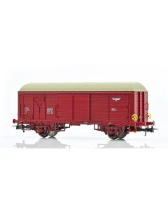 Topline Godsvogner, NMJ Topline model of the NSB His 210 2 597-2 boxcar type 4 with fiberglass roof and brake wheels, NMJT504.403