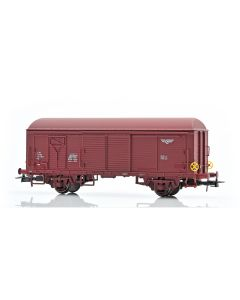 Topline Godsvogner, NMJ Topline model of the NSB His 210 2 265-1 boxcar type 4 with fiberglass roof and brake wheels, NMJT504.401