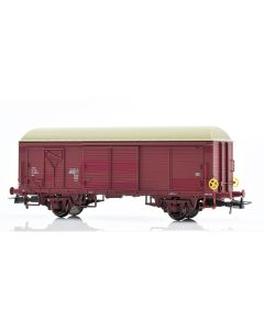 Topline Godsvogner, NMJ Topline model of the NSB His 210 2 650-9 boxcar type 4 with fiberglass roof and brake wheels, NMJT504.402