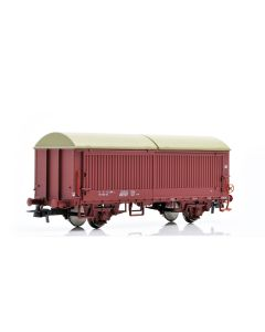 Topline Godsvogner, NMJ Topline model of the NSB His 210 2 998-2 boxcar type 5 with steel walls, fiberglass roof and brake wheels, NMJT504.502