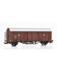 Topline Godsvogner, NMJ Topline model of the SJ G 50234 ASG box car in brown original livery. , NMJT604.508