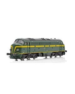 Topline Lokomotiver, NMJ Topline model of the SNCB 202003 with dynamic brake and two frontlamps., NMJT90402