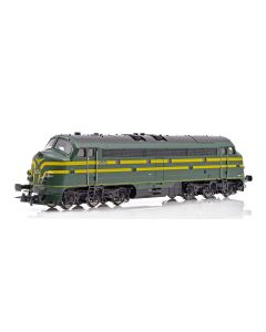 Topline Lokomotiver, NMJ Topline model of the SNCB 5404 in late version with 5 front lamp, DCC Sound., NMJT90403