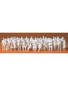 Figurer Preiser, Pakke med 60 umalte figurer i skala 1:50., PRE68290