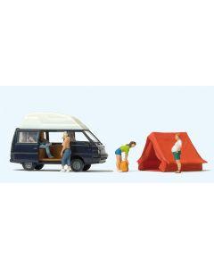 Figurer Preiser, preiser-33258-mitsubishi-l300-allrad-camping, PRE33258