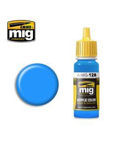 Mig Akrylmaling, ammo-by-mig-jimenez-0128-cyan-acrylic-paint-17-ml, MIG0128
