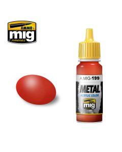 Mig Akrylmaling, ammo-by-mig-jimenez-0188-red-metallic-metal-acrylics-17-ml, MIG0188