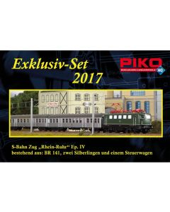 Lokomotiver Internasjonale, piko-58113-exclusiv-set-2017-db-br-141-sliberling-dc, PIK58113