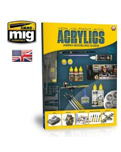 Bøker, ammo-by-mig-jimenez-mig-6040-modelling-guide-how-to-paint-with-acrylics-book-english, MIG6040