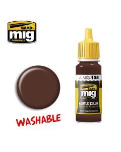 Mig Akrylmaling, ammo-by-mig-jimenez-0108-washable-mud-washable-paint, MIG0108