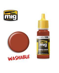 Mig Akrylmaling, ammo-by-mig-jimenez-0109-washable-rust-washable-paint, MIG0109