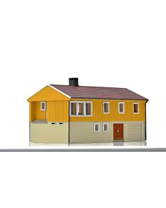 Skyline Ready Made, nmj-skyline-15122-norwegian-villa-husbank-117-yellow-white, NMJH15122