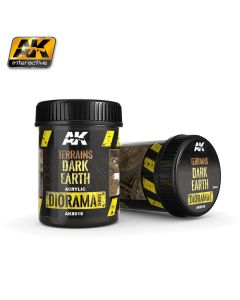 AK Interaktive, ak-interactive-8018-diorama-series-terrains-dark-earth-acrylic-250-ml, AKI8018