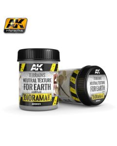 AK Interaktive, ak-interactive-8023-diorama-series-terrains-neutral-texture-for-earth-acrylic-250-ml, AKI8023