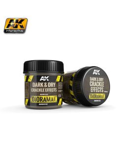 AK Interaktive, ak-interactive-8032-dark-and-dry-crackle-effects-diorama-series-100-ml, AKI8032