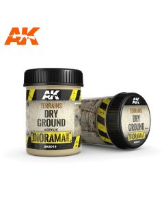 AKI8015, ak-interactive-8015-diorama-series-terrains-dry-ground-acrylic-250-ml