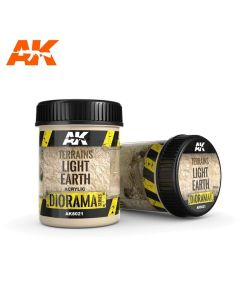 AKI8021, ak-interactive-8021-diorama-series-terrains-light-earth-acrylic-250-ml