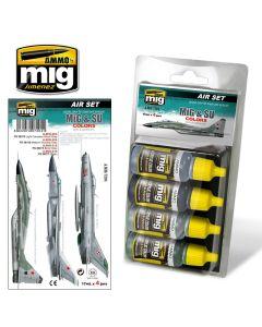 Mig Akrylmaling, ammo-by-mig-jimenez-7204-mig-su-colors-grey-green-jets-acrylic-paint-set, MIG7204