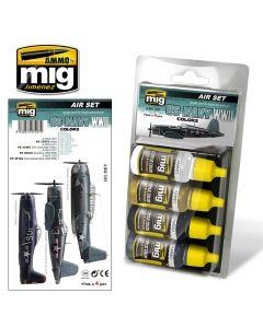 Mig Akrylmaling, ammo-by-mig-jimenez-7207-us-navy-ww2-colors-acrylic-paint-set, MIG7207