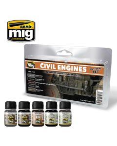Mig, ammo-by-mig-jimenez-mig7146-civil-engine-weathering-set, MIG7146