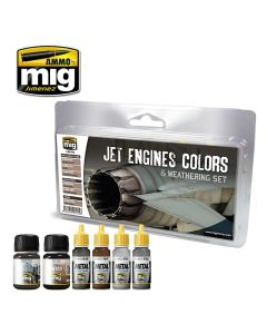 Mig, Jet Engines Colors And Weathering Set, MIG7445