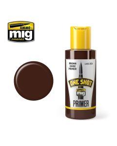 Mig Akrylmaling, Ammo-by-Mig-Jimenez-MIG2026-ONE-SHOT-PRIMER-BROWN-OXIDE-PROFESIONAL-PRIMER, MIG2026