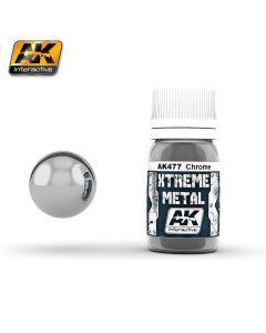 AK Interaktive, ak-interactive-ak-477-xtreme-metal-chrome-30-ml, AKI477