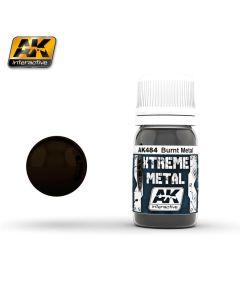 AK Interaktive, ak-interactive-ak-484-xtreme-metal-burnt-metal-30-ml, AKI484