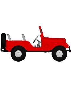 Personbiler, Jeep Universal, Rød, BRE58904