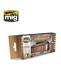 Mig Akrylmaling, ammo-by-mig-jimenez-7177-urban-diorama-colors-acrylic-paint-set, MIG7177