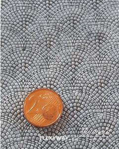 Detaljering, juweela-28283-flexway-cobblestone-roman-pattern-1-straight-section-scale-1-87, JUW28283