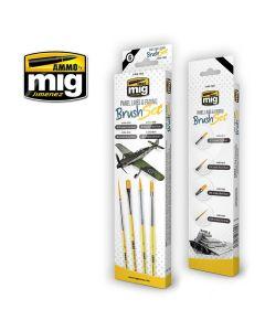 Mig, Penselsett Panel Lines & Fading, MIG7605