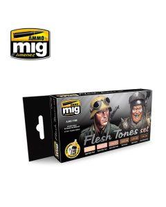 Mig Akrylmaling, ammo-by-mig-jimenez-7168-flesh-tones-set, MIG7168