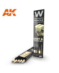 AK Interaktive, ak-interactive-10044-weathering-pencils-for-modelling-dirt-and-marks-set, AKI10044
