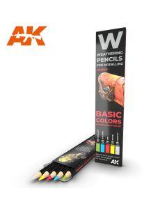 AK Interaktive, ak-interactive-10045-weathering-pencils-for-modelling-basic-colors, AKI10045