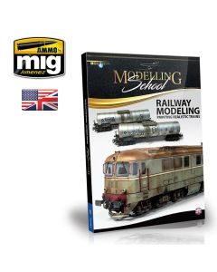 Bøker, ammo-by-mig-jimenez-mig-6250-modelling-school-railway-modeling-painting-realistic-trains-book-english, MIG6250