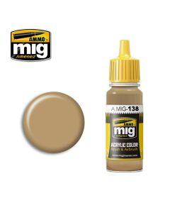 Mig Akrylmaling, ammo-by-mig-jimenez-138-dessert-yellow-acrylic-paint-17-ml, MIG0138