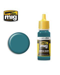 Mig Akrylmaling, ammo-by-mig-jimenez-251-russian-blue-amt-7-acrylic-paint-17-ml, MIG0251