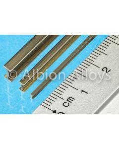 Metallprofiler, albion-alloys-ib4-brass-i-beam-4-x-2-mm, ALBIB4